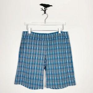 Athleta Plaid Pull On Bermuda Shorts